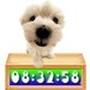Cute Puppy Clock