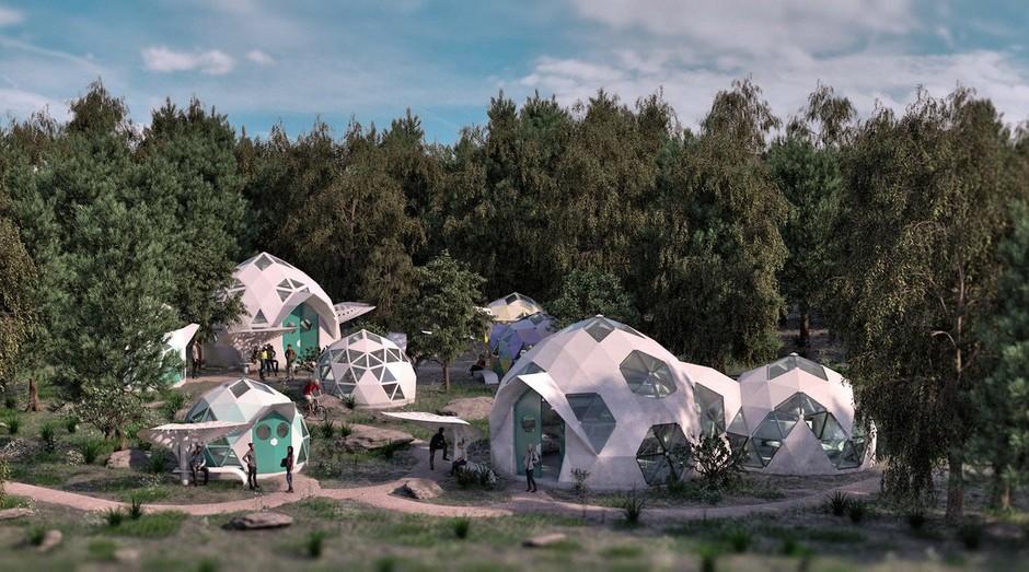 As casas podem chegar a custar R$ 1 milhão (Foto: Divulgação)