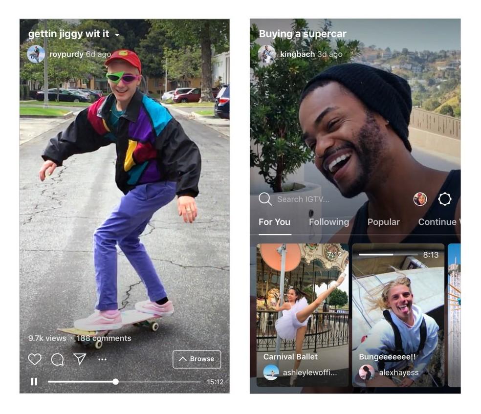 Instagram lançou um aplicativo novo, chamado IGTV, que exibe a publicação de vídeos mais longos (Foto: Divulgação)