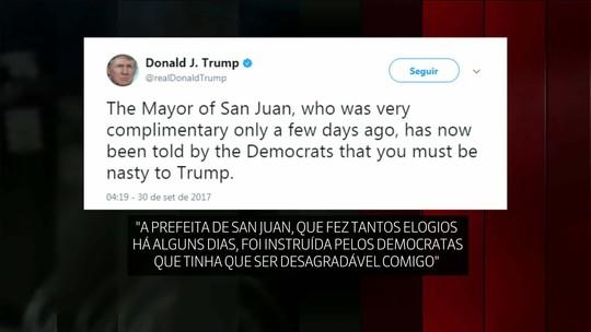Trump ataca prefeita de San Juan que implorou por mais ajuda para Porto Rico