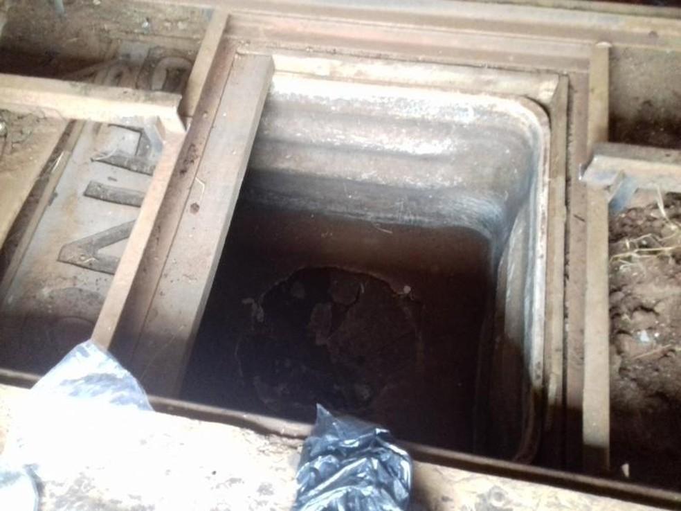 Droga estava escondida em estábulo (Foto: Polícia Civil/Divulgação)