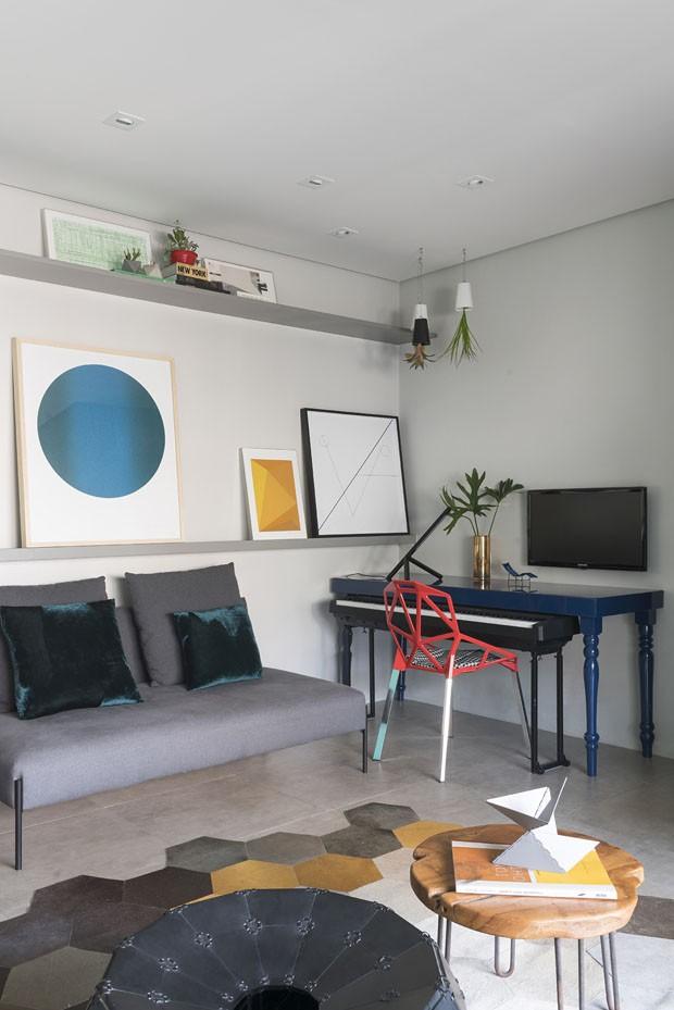 Cor é ponto alto em apartamento jovem de 60 m² (Foto: Divulgação)