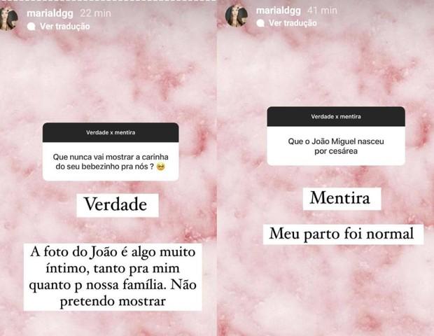 Maria Lina Deggan responde a seguidores (Foto: Reprodução/Instagram)