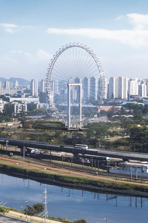 Maior roda gigante da América Latina será instalada em São Paulo (Foto: Levisky Arquitetos)
