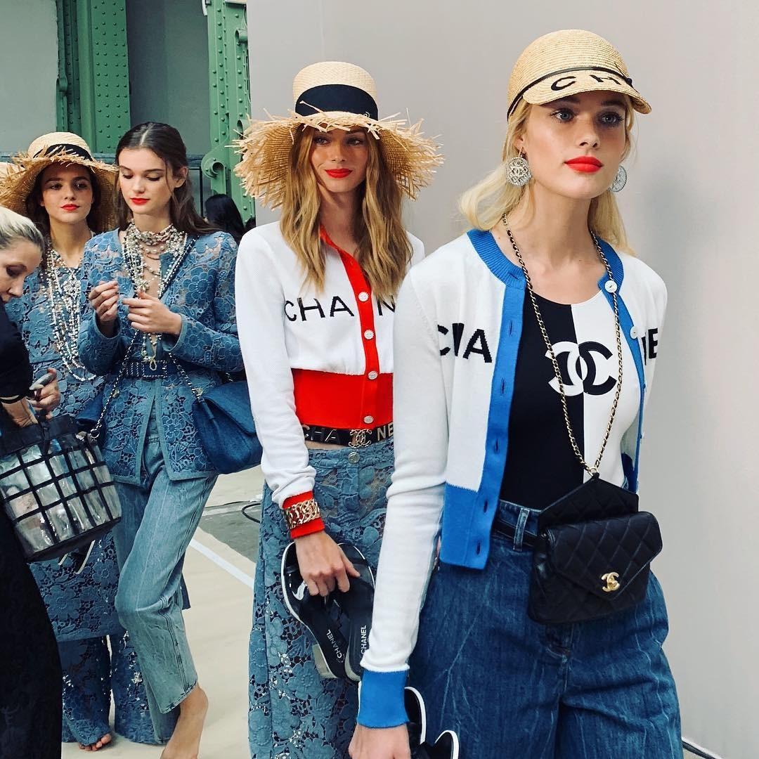 Desfile de primavera-verão 2019 da Chanel (Foto: Reprodução Instagram)
