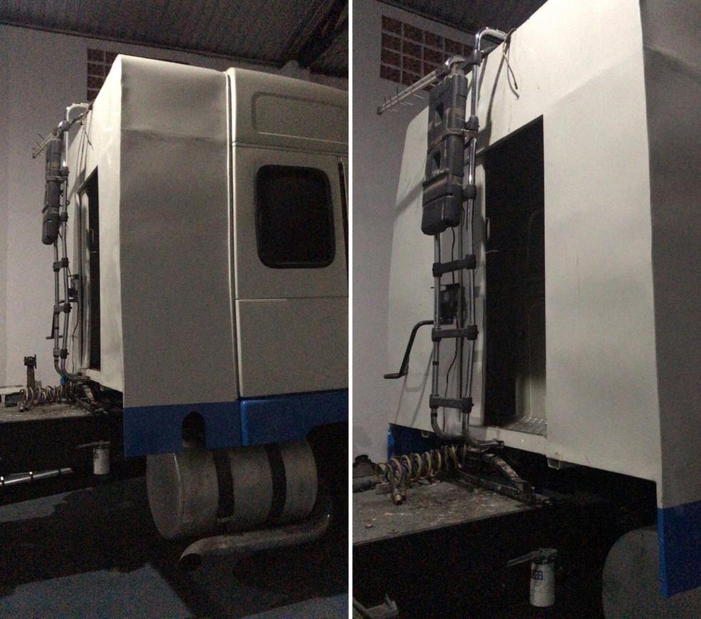Compartimento secreto era usado para esconder ilícitos e acessar o Porto de Santos, SP  â?? Foto: G1 Santos