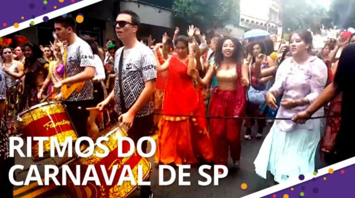 Rap, sertanejo e até música indiana: conheça blocos que apostam em ritmos diferentes no carnaval de rua de SP