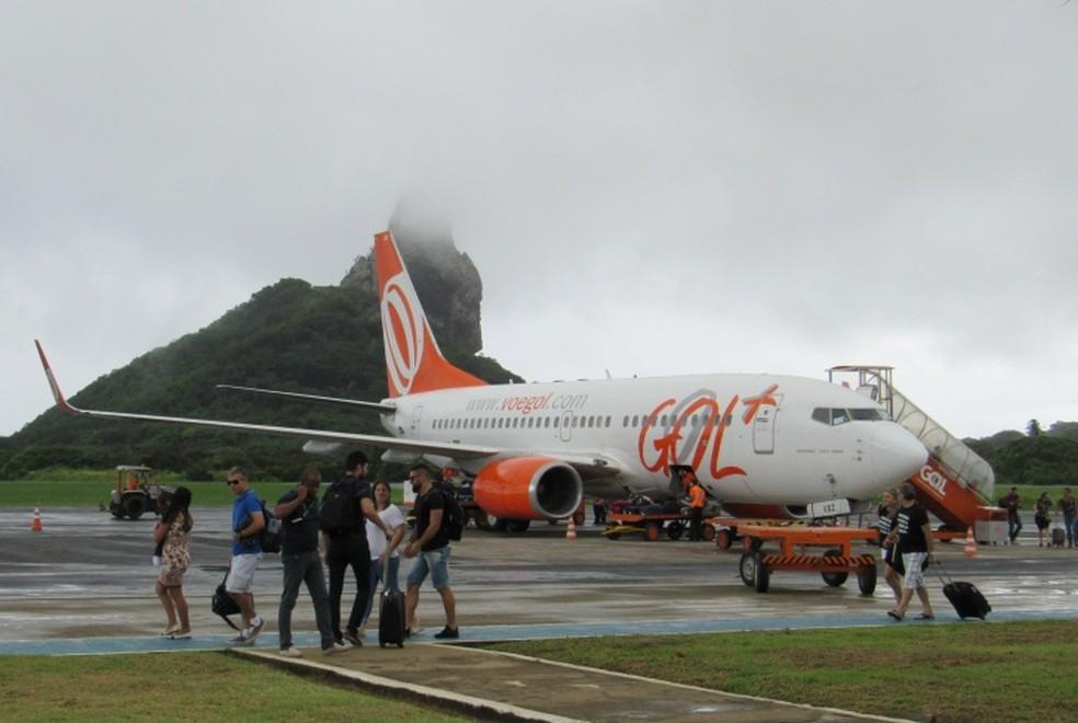 A Gol realizou dos dois voos programados  (Foto: Ana Clara Marinho/TV Globo )