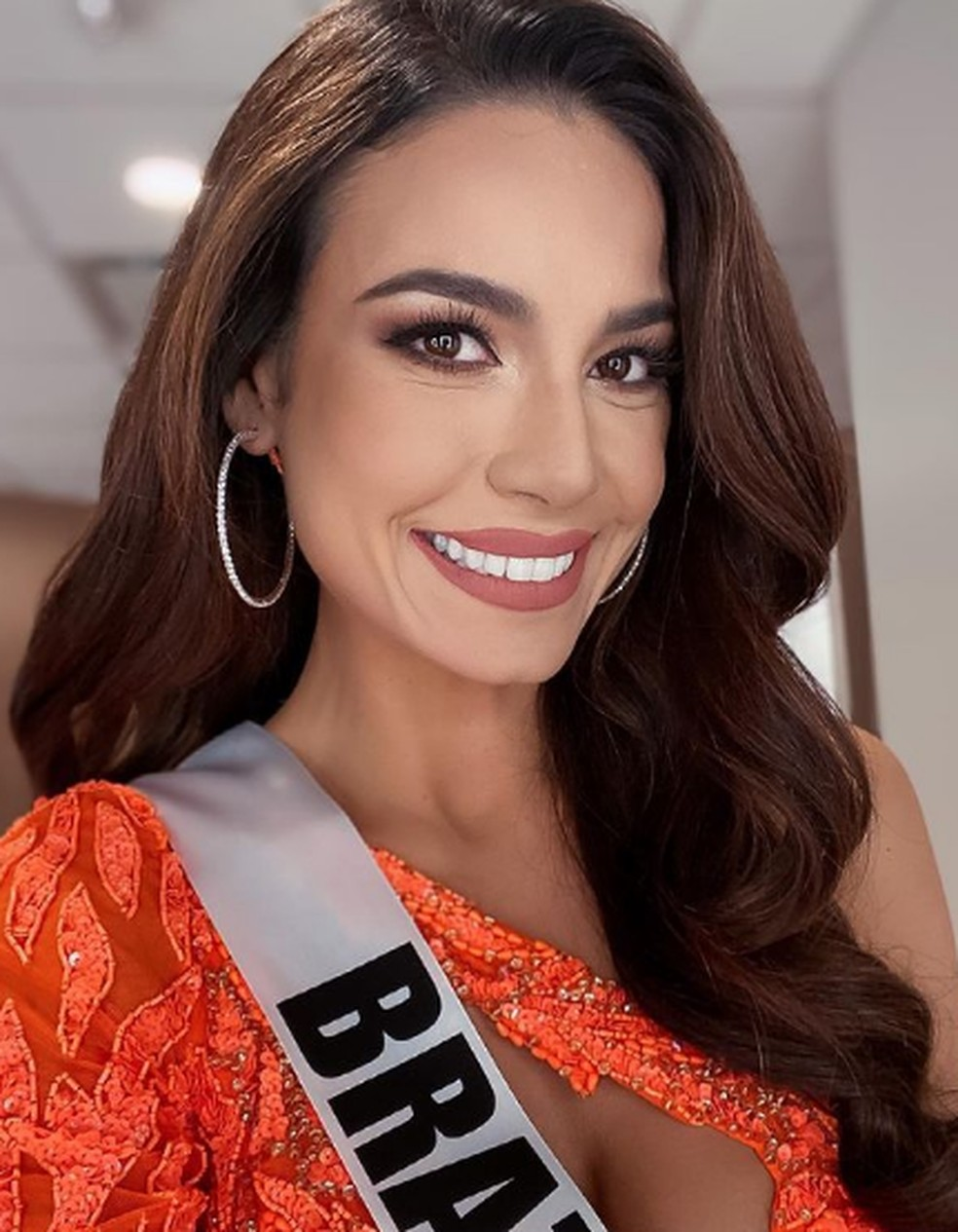 Julia Gama, segunda colocada no Miss Universo — Foto: Reprodução Instagram/juliawgama