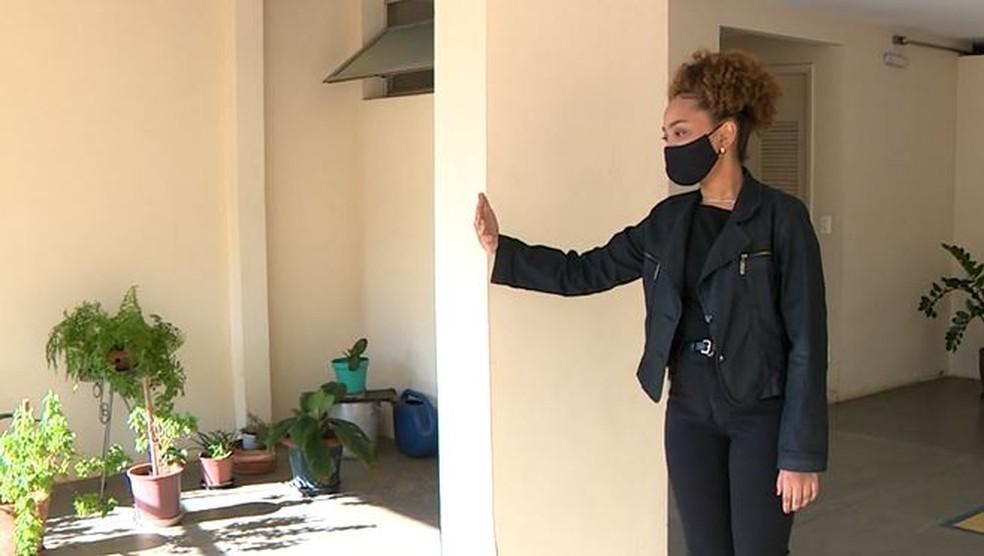 Julia Barros de Andrade mora com a família em um condomínio no bairro Botafogo, em Campinas — Foto: Reprodução/EPTV