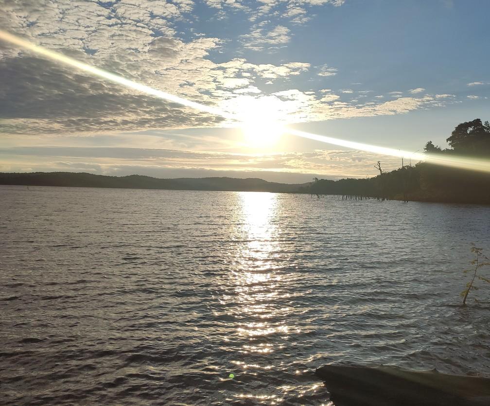 Lago do Manso onde foi realizado algumas provas do programa. — Foto: Ariane Frassato