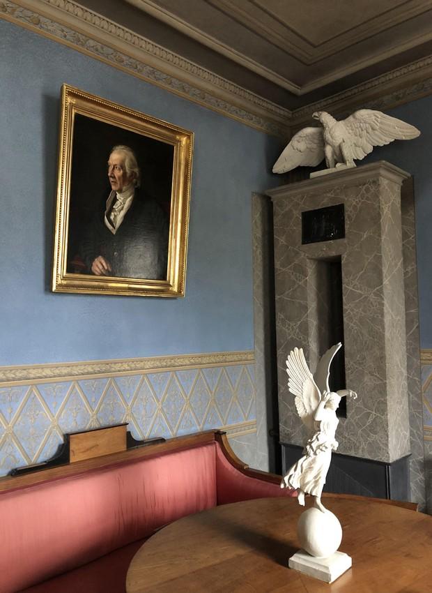Uma das salas da casa do filósofo Goethe, um dos principais pontos turísticos de Weimar (Foto: Stéphanie Durante/Editora Globo)