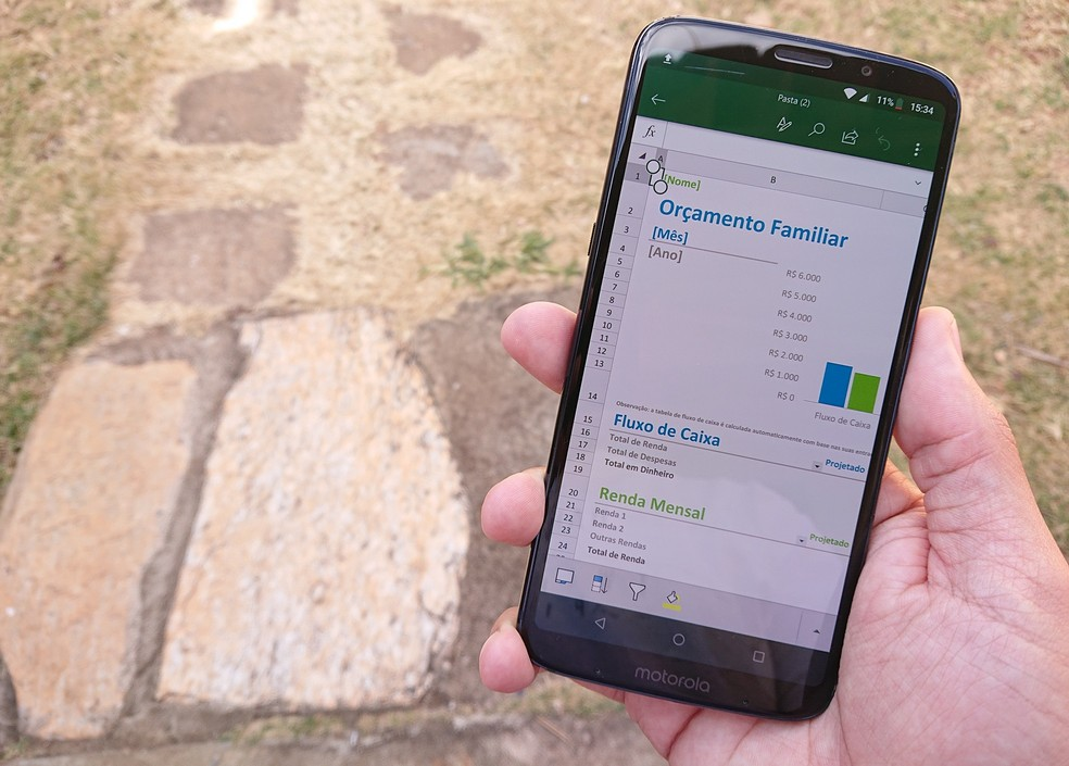 App oferece, por exemplo, uma série de modelos prontos para facilitar a criação de planilhas (Foto: Reprodução/Fernando Telles)