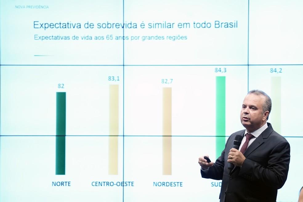 Secretário Especial de Previdência e Trabalho do Ministério da Economia, Rogério Marinho — Foto: Pablo Valadares/Câmara dos Deputados