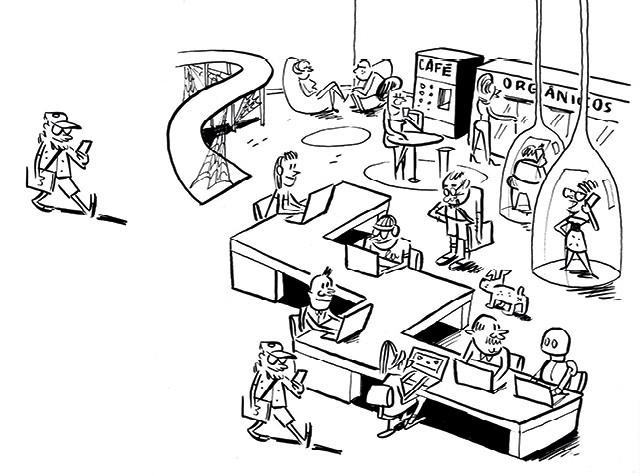 O poder dos novos escritórios (Foto: Ilustração: Caco Galhardo)