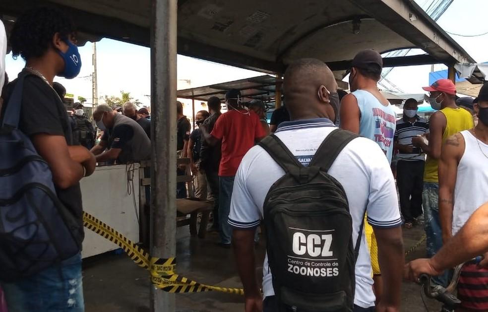 Caso ocorreu na Av. São Cristóvão — Foto: Cid Vaz/TV Bahia