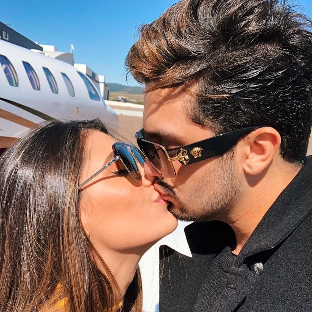 As últimas fotos dos dois juntos compartilhada por Jade nas redes sociais foi no Dia dos Namorados, em 12 de junho — Foto: Reprodução/Instagram
