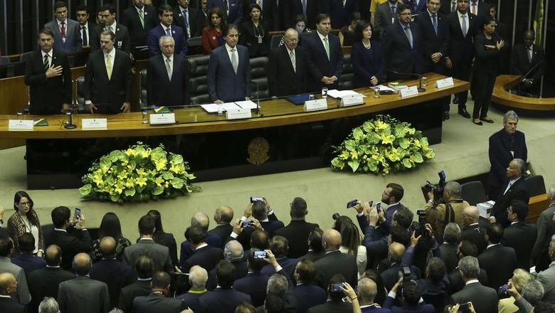 politica-bolsonaro-congresso-constituicao (Foto: Antônio Cruz/Agência Brasil)