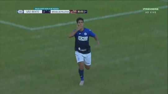 Veja os gols de São Bento 3 x 1 Brasil de Pelotas