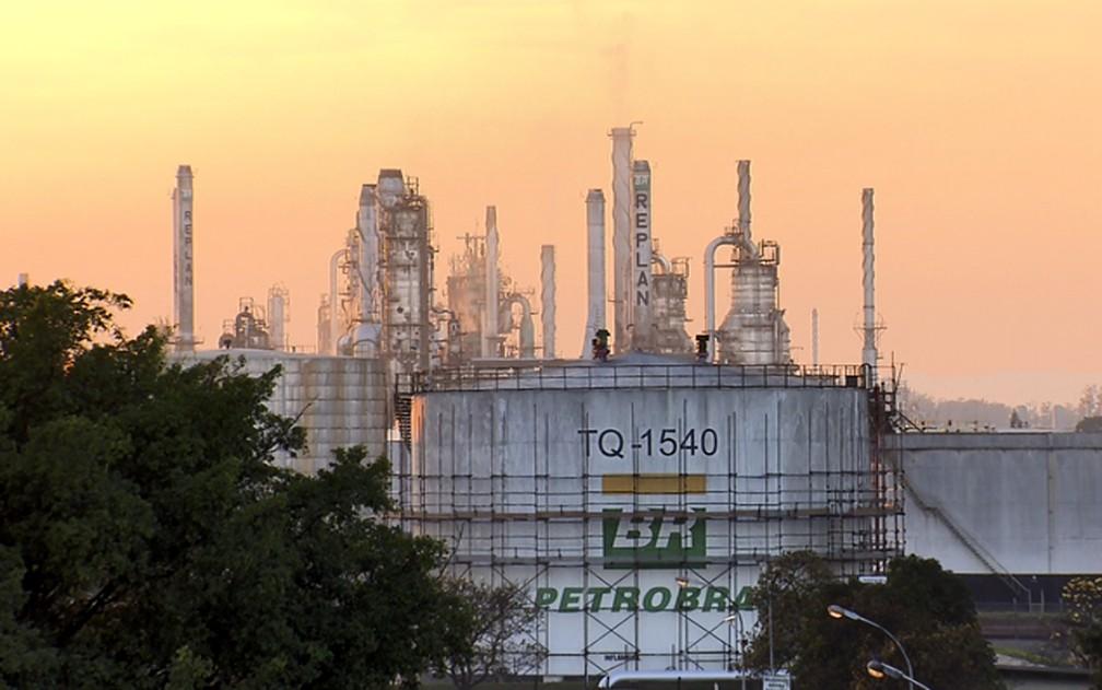 Replan é a maior refinaria da Petrobras e fica localizada em Paulínia (SP) — Foto: Reprodução/EPTV