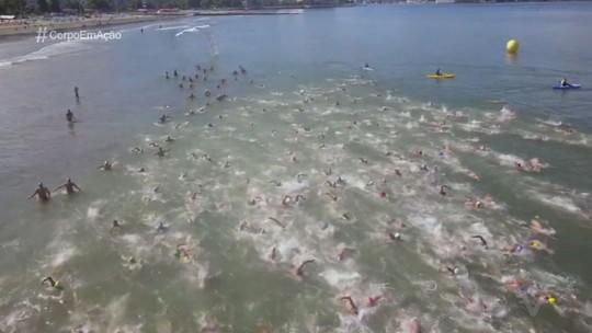 Primeira etapa do 6º Campeonato Santista de Águas Abertas reúne atletas de várias gerações