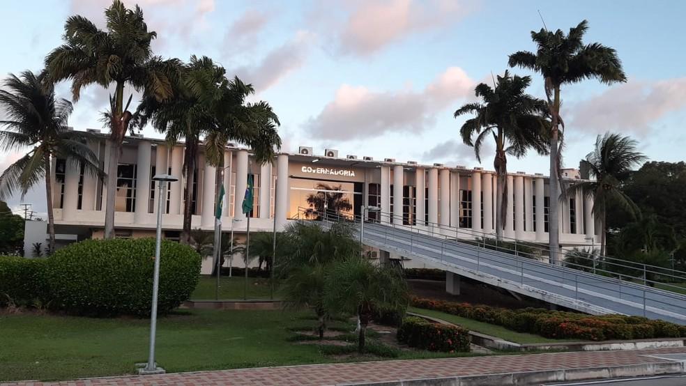 Governadoria do Rio Grande do Norte RN fachada sede prédio Governo do RN — Foto: Sérgio Henrique Santos/Inter TV Cabugi