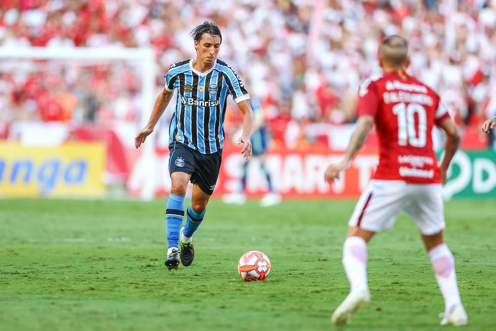 Sistema defensivo liderado por Geromel manteve o placar zerado — Foto: Lucas Uebel / Grêmio FBPA