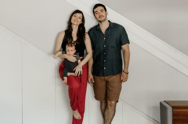 Marcos Veras e Rosanne Mulholland com o filho Davi (Foto: Babuska Fotografia)