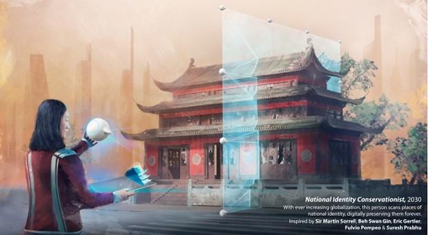 Ilustração de Florian de Gesincourg - Futuro do Trabalho - WEF - monumentos (Foto: Divulgação)