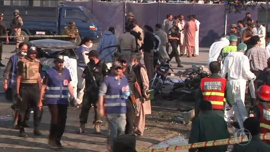 Explosão deixa mortos e feridos no Paquistão