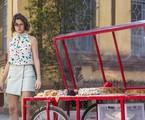 Agatha Moreira grava a cena de 'A dona do pedaço' | Rede Globo / Victor Pollak