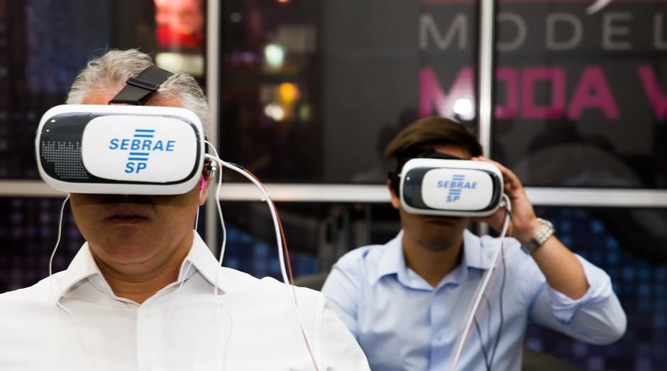 Realidade virtual será usada para apresentar oportunidades de negócio na Feira do Empreendedor SP 2018 (Foto: Reprodução/Agência Sebrae-SP)