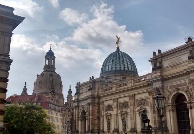 Cidade de Dresden, na Alemanha - grande parte da cidade foi destruída na 2ª Guerra Mundial (Foto: Barbara Bigarelli)