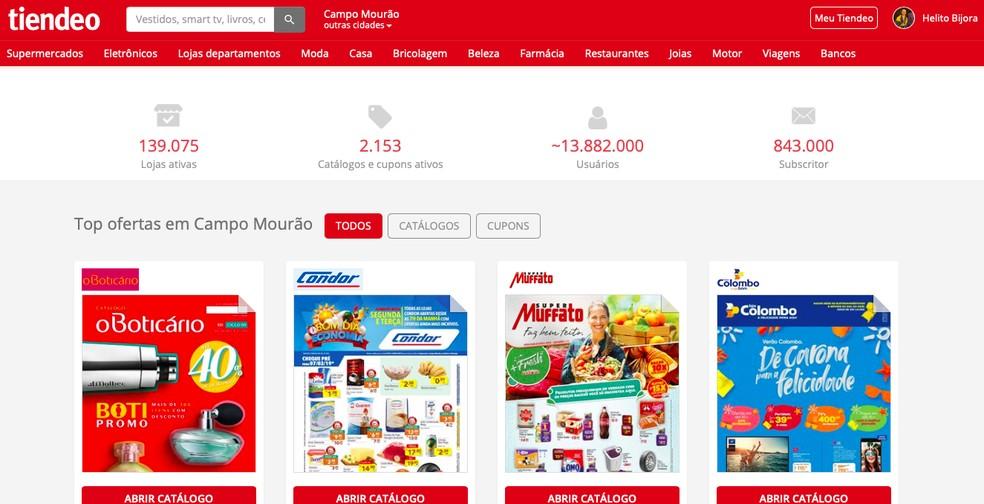 7b1b4e3793eec ... Aprenda a usar o Tiendeo para encontrar ofertas de supermercados —  Foto: Reprodução/Helito