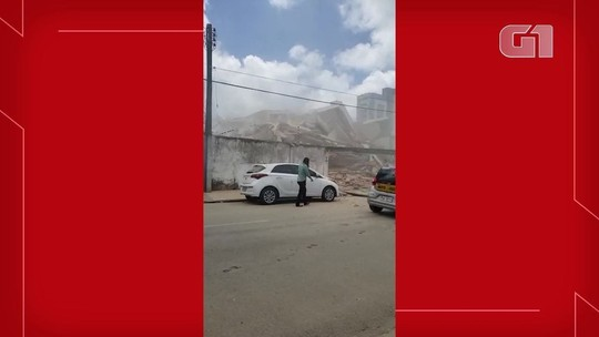 Vídeo mostra funcionário da reforma logo após prédio ruir