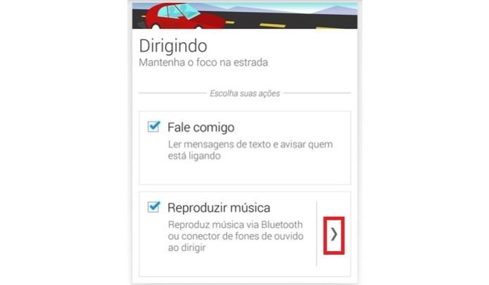 Botão em destaque mostra lista de apps de música no app da Motorola (Foto: Reprodução/Raquel Freire)