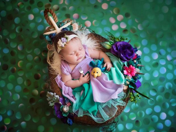 Ariel, de A Pequena Sereia, recém-nascida (Foto: Karen Marie)