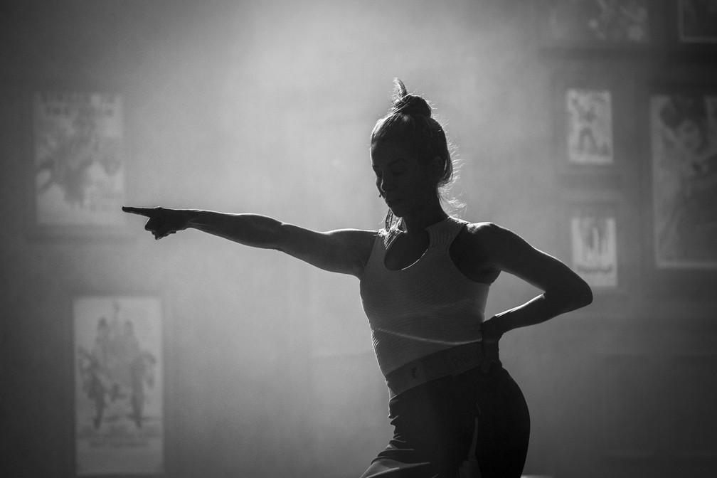Danielle Winits ensaia número da personagem Ulla, do musical 'Os Produtores' (Foto: Isabella Pinheiro/Gshow)