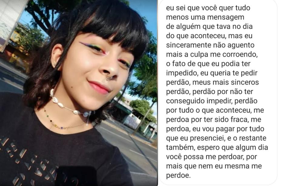 Mãe de jovem achada morta diz que adolescente suspeita do crime enviou mensagem pedindo 'perdão' antes de ser apreendida, em Goiânia — Foto: Arquivo pessoal