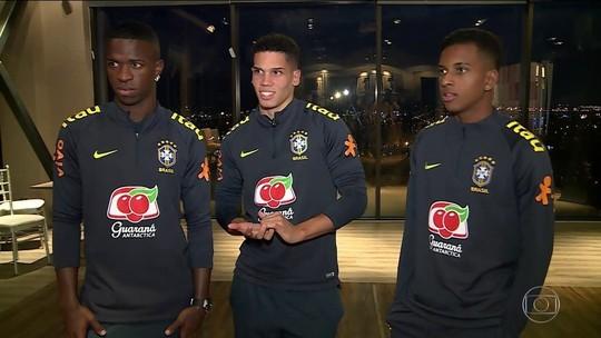 Sub-20 volta a enfrentar o Chile, e trio Vinicius Jr, Paulinho e Rodrygo quer deixar boa impressão