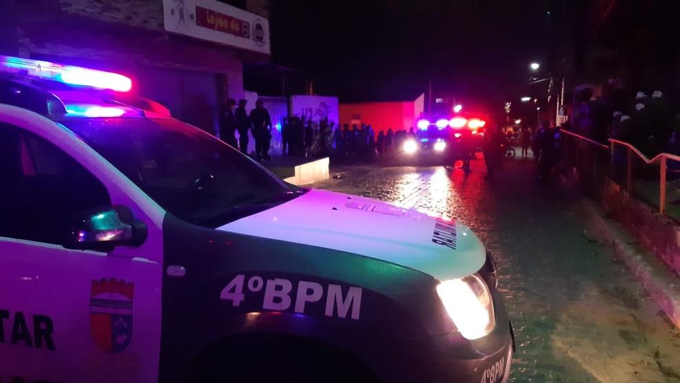 Homem é morto a tiros após briga na zona Norte de Natal — Foto: Sérgio Henrique Santos/Inter TV Cabugi