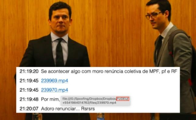 O nome da pasta no HD do perito judicial que analisou as mensagens da Vaza-Jato trocadas por Deltan Dallangnol e Sergio Moro