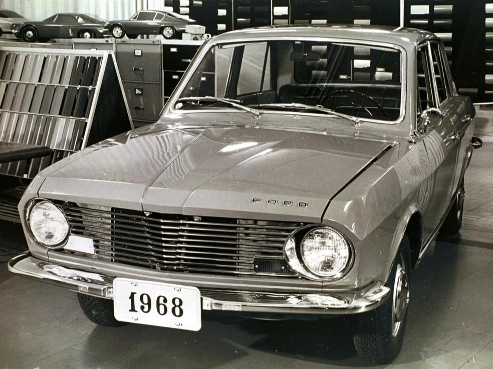 Lançamento do Ford Corcel, em 1968 — Foto: Divulgação