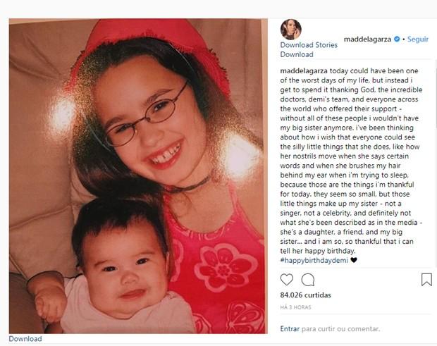 O post de Madison de La Guarda (Foto: Reprodução Instagram)
