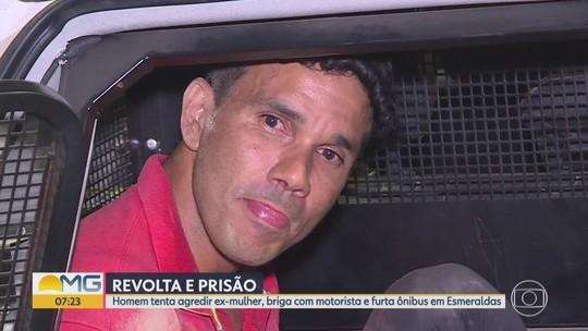 Homem é preso suspeito de brigar com ex, agredir motorista de ônibus e furtar coletivo em Esmeraldas