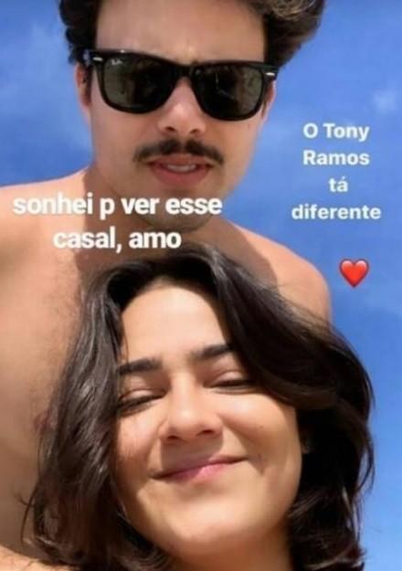 Giullia Buscacio e Pedro Calais (Foto: Reprodução/Instagram)