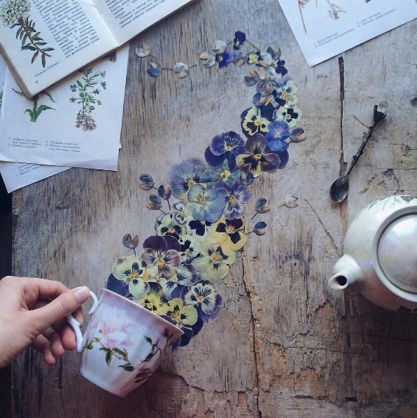O chá de flores de Marina Malinovaya