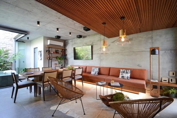 Décor do dia: área externa com piscina e espaço gourmet (Foto:  Marcus Camargo)