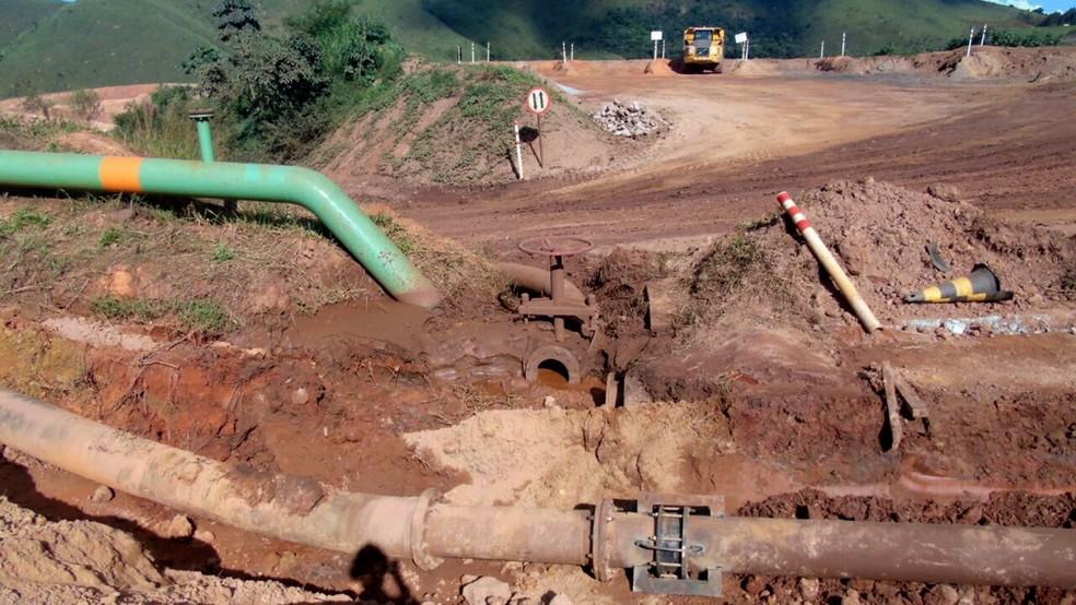 Duto de rejeitos da Vale se rompeu em Congonhas e atingiu rios da região de Itabirito e Ouro Preto (Foto: Divulgação/ Secretaria Municipal de Meio Ambiente da Prefeitura de Itabirito)