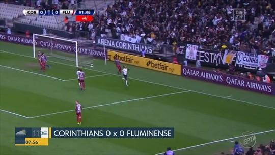 Corinthians e Fluminense empatam na Arena do Timão